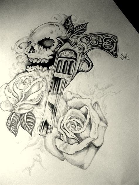 guns and roses tattoos 10 scary gun tattoos for and awesome tat