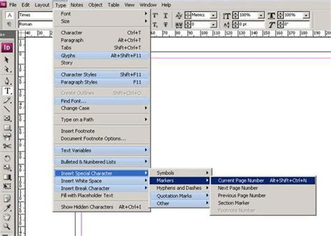 creating indesign master page creating indesign master page inserting page numbers into