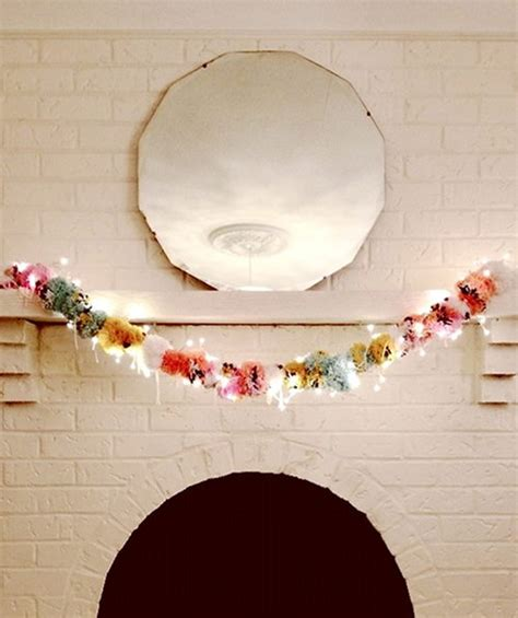 l post garland with lights craft tutorials galore at crafter holic pom pom light