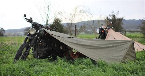 rugged exposure tent gear review exposed motorcycle bivouac return of the cafe racers