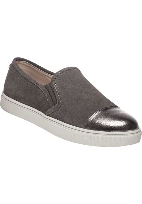 Steve Madden Slip O by Steve Madden Emuse Slip On Sneakers In Gray Lyst