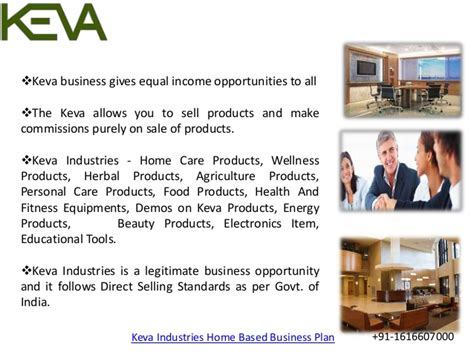 keva industries home based business plan