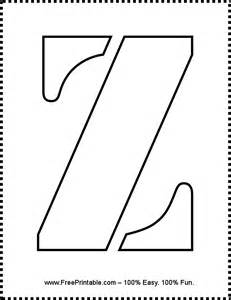 customize your free printable letter z stencil