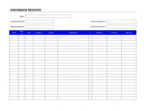 Bank Register Template by Checkbook Register Template Free Microsoft Word Templates