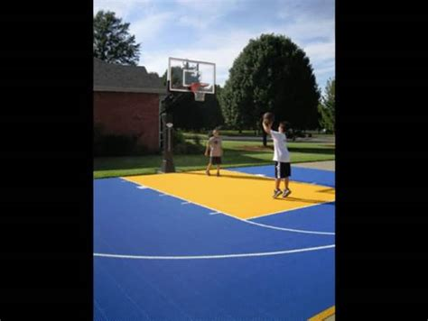 Backyard Basketball Court Tiles by Outdoor Basketball Court Tile For Backyard Courts