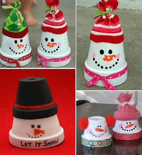 clay pot snowman ornaments video tutorial terracotta