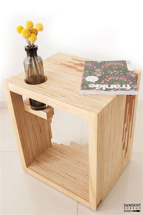 bedside tables matchbox natural pine plywood bedside ply parasite is formed by on edge laminating 50 metres of