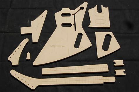 Guitar Router Templates by Explorer Guitar Router Template Set 1 2 Quot Mdf Cnc