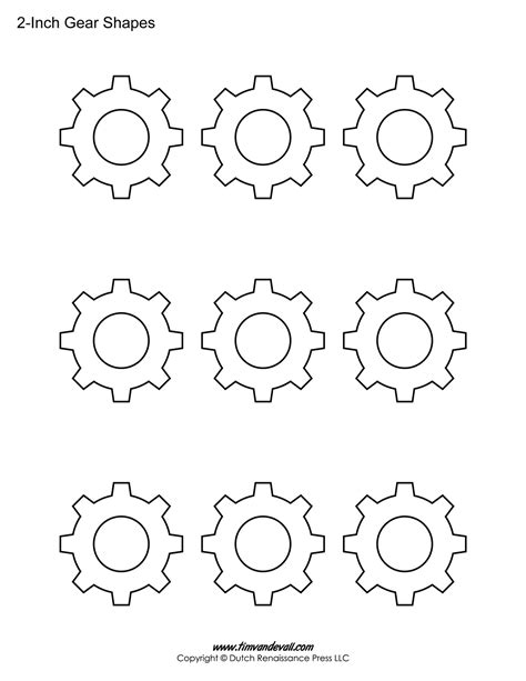 gear template gear template images
