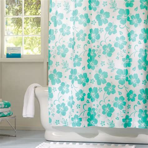 hibiscus shower curtain hibiscus organic shower curtain pbteen