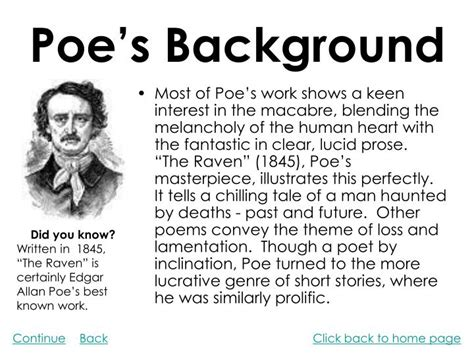 edgar allan poe brief biography ppt edgar allan poe powerpoint presentation id 1108959