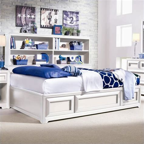 Childrens Bed With Bookcase Headboard by Lea Elite Reflections Bookcase Platform Storage Bed