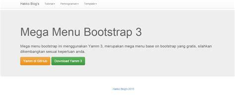 membuat menu dropdown dengan php cara membuat mega menu dengan yamm bootstrap 3 hakko blog s