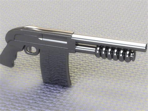Shotgun House Shotgun Pistol Wclip 3d Model Obj Cgtrader Com