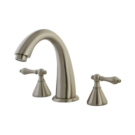Typical Faucet Flow Rate by Shop Elements Of Design Satin Nickel 2 Handle Adjustable