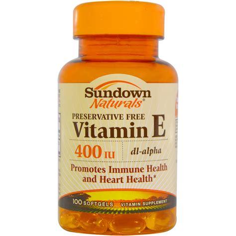 Vitamin Supplement sundown naturals vitamin e 400 iu 100 softgels iherb