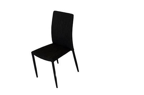 chaises noir chaise de salle 224 manger design m 233 tal tissu coloris noir