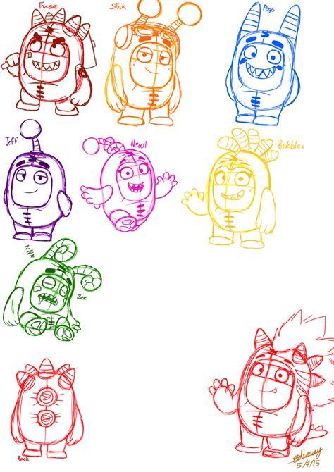 doodle deviantart doodle oddbods by edimay on deviantart