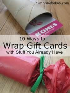 how to wrap gift cards with stuff you already have