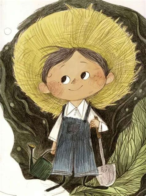 the little gardener emily hughes the little gardener illustration in color photoshop and pencil