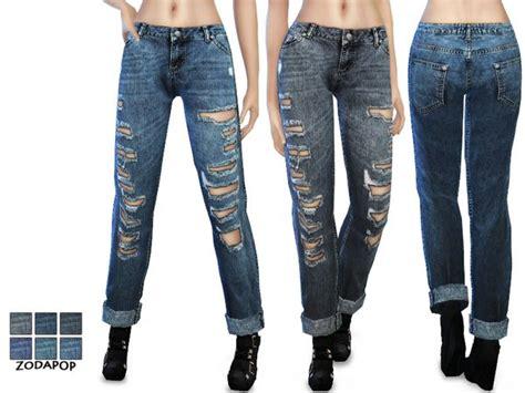 sims 4 cc boyfriend jeans the sims resource mid wash boyfriend jeans by zodapop