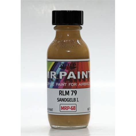 acrylic color mr paint sand yellow i rlm79 mrp 68 crohobby