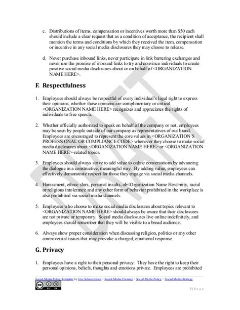 social media guidelines template social media policy template