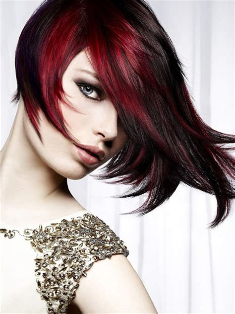 pictuted of red highlights on dark hair with spiky cut pictures dark red hair color is it right for you