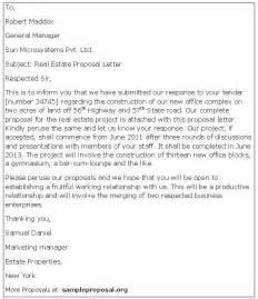 Business Letters Real Estate Real Estate Proposal Letter Sample Proposals
