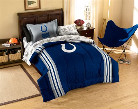 indianapolis colts bedding set nfl football striped