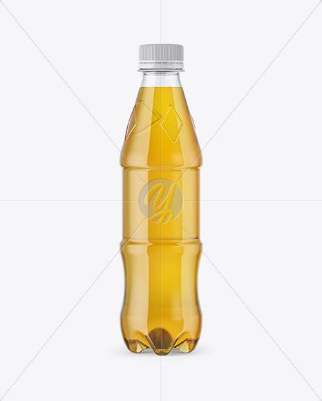 Memobottle A6 350 Ml Tanparant clear plastic 350ml bottle with soft drink mockup in bottle mockups on yellow images object mockups