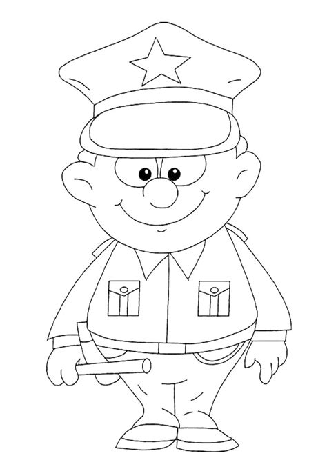 police officer coloring pages preschool coloring pages