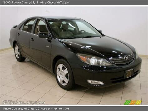 2002 Toyota Camry Se Black 2002 Toyota Camry Se Charcoal Taupe Interior