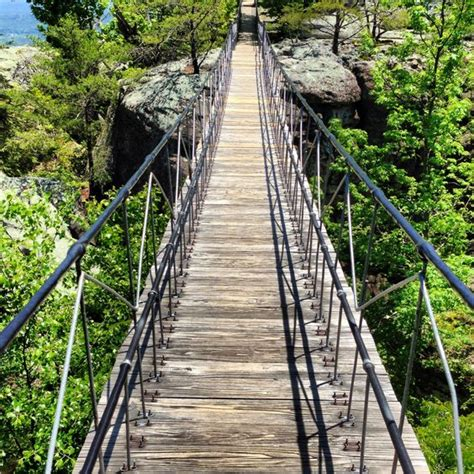 Chattanooga Tennessee The Swinging Bridge Rock City