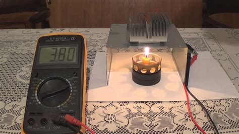 diy peltier candle power electric generator