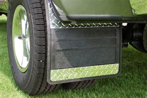 dodge dually mud flaps owens 86rf109d rubber with plate dually mud flaps