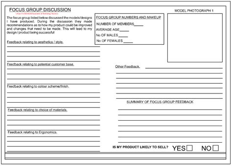 focus discussion report template the of a focus