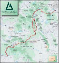 the colorado trail map the colorado trail quot end to end quot guide pmags