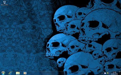 download themes windows 7 horror skulls