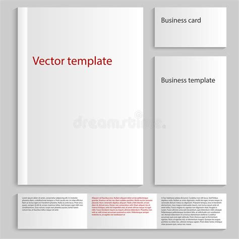 Free Business Card Template A4 by Vector Illustration Of A Mock Up Card A4 Business Card