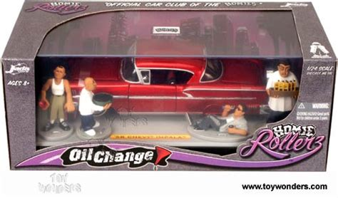 Hommies Figure Diorama Diecast Wheels Wolfe 1958 chevy impala top w figures by toys homie rollers change 1 24 scale diecast