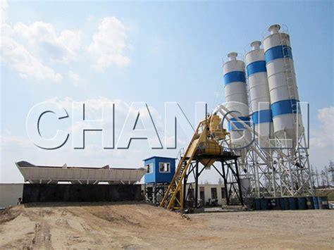 hzs120 central mix concrete plant of high productivity