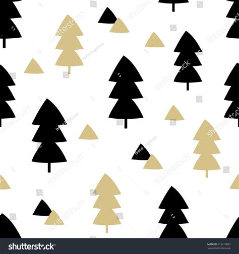 triangle christmas tree pattern seamless repeating pattern trees triangle stock vector 515210881