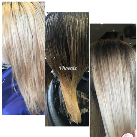 color melt with darkerr root colour melt root stretch root shading beauty junk