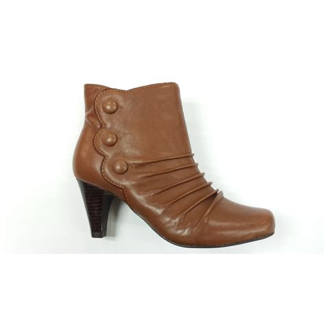 ankle boot pajaya brown leather ankle boot