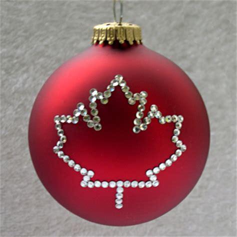 ornaments canada canadian maple leaf ornament tree ornaments