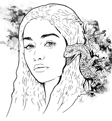 thrones colouring book adults of thrones daenerys by lritchieart on deviantart