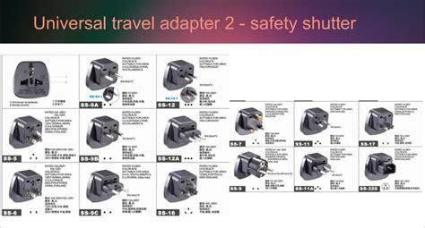 twin sockets universal to iec male plug adapter adaptor
