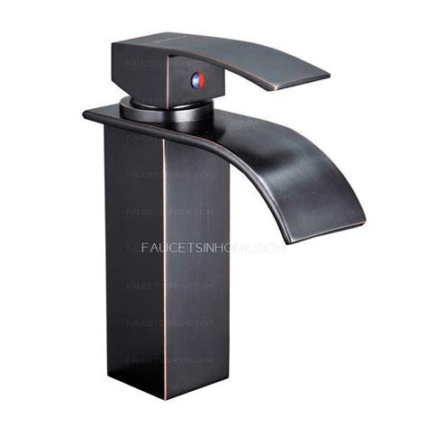single lever sink faucet single lever waterfall matte black bathroom sink faucet