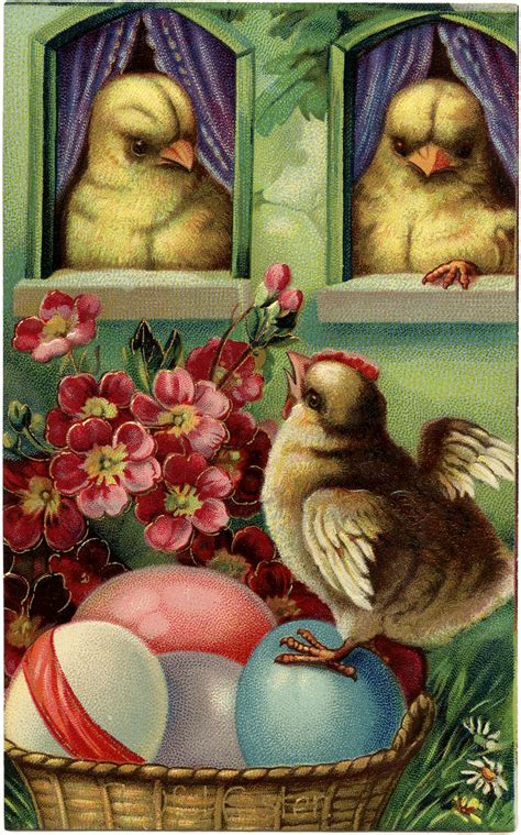 precious peeps easter postcard  graphics fairy